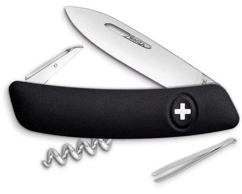 SWIZA D01 CRNI Švicarski Preklopni Nož-1