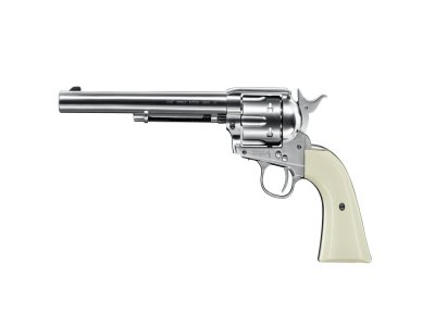 COLT SINGLE ACTION ARMY SAA PEACEMAKER NICKL FINISH 7,5
