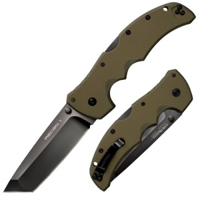 COLD STEEL RECON 1 Tanto Point OD GREEN Preklopni Nož -1