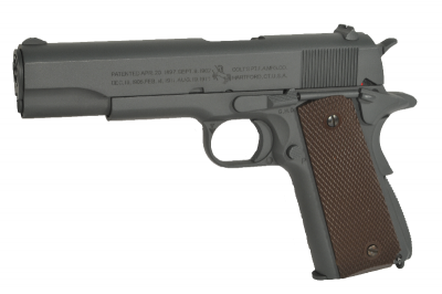 Colt 1911 100Th Anniversary parkerized grey GBB airsoft pištolj-1