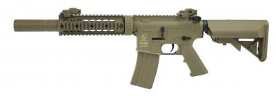 Colt M4 Nylon fibre Silent ops TAN airsoft replika-1