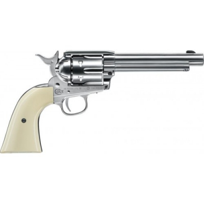 COLT SINGLE ACTION ARMY SAA PEACEMAKER NICKEL FINISH Pellet Zračni Revolver na dijabole-1